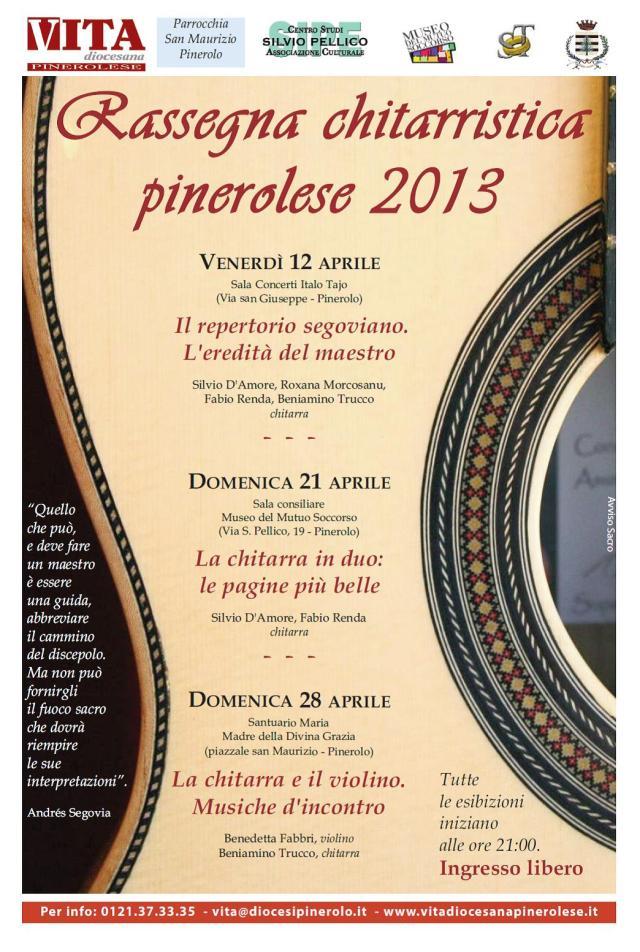 Rassegna chitarristica pinerolese 2013