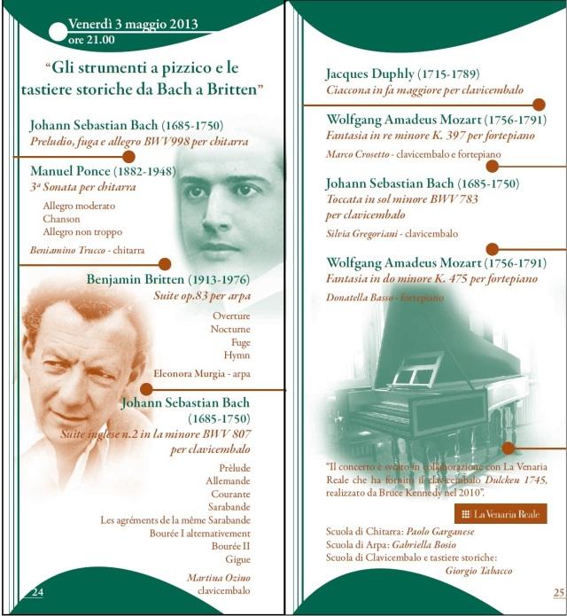 Serate musicali 2012-2013, seconda parte. Venerdì 3 maggio.