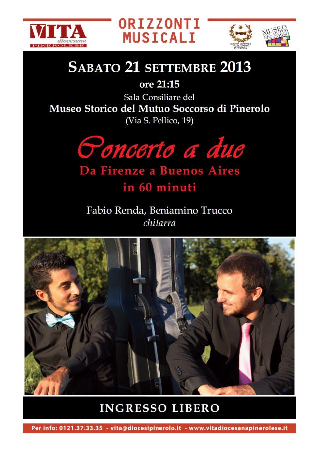 Locandina 'Concerto a due' - versione online 2