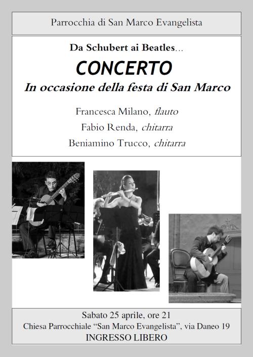 2015.04.25 Concerto a San Marco, Locandina