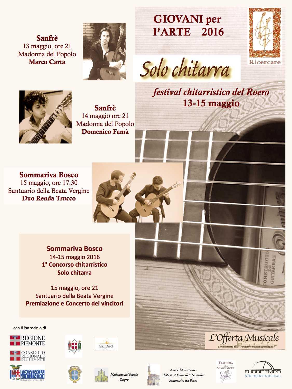 locandina Solo chitarra